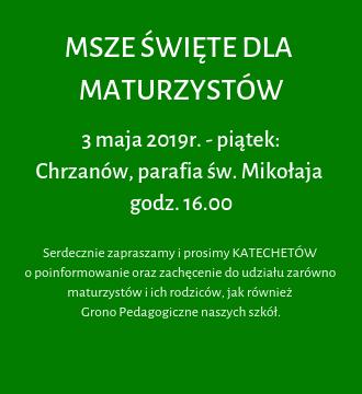 Msza dla Maturzystów – Chrzanów, parafia św. Mikołaja