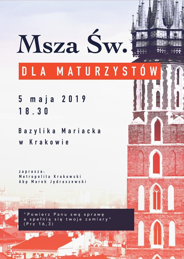 Msza dla Maturzystów – Bazylika Mariacka w Krakowie