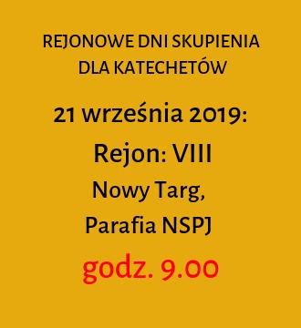 Rejon VIII – jesienne dni skupienia 2019